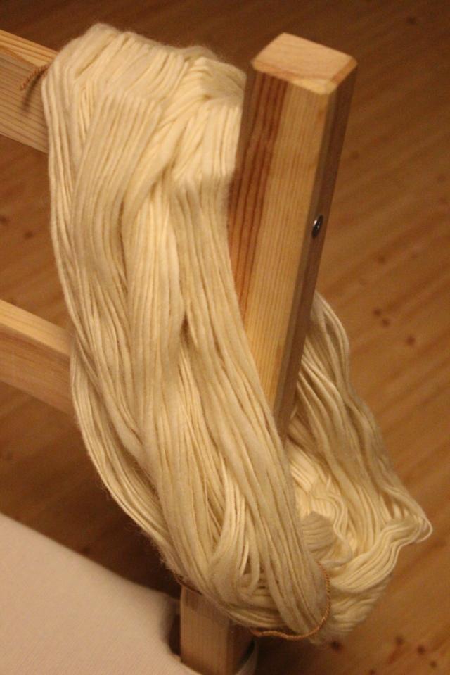 Wolle aus Holland vor dem Färben.